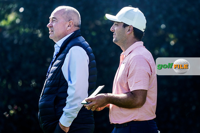 Francesco Molinari (ITA) and his coach Denis Pugh during the Pro-Am ahead of the The Genesis Invitational, Riviera Country Club, Pacific Palisades, Los Angeles, USA. 11/02/2020<br /> Picture: Golffile | Phil Inglis<br /> <br /> <br /> All photo usage must carry mandatory copyright credit (© Golffile | Phil Inglis)