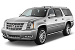 Front three quarter view of a 2007 - 2014 Cadillac Escalade ESV Premium SUV