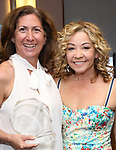 Rebecca Kim Jordan and Jennifer Cody during the ceremony as The chorus of Broadway's Once on This Island receives the twelfth annual Advisory Committee on Chorus Affairs (ACCA) Award for Outstanding Broadway Chorus from Actors' Equity at the Actors' Equity Offices on June 19, 2018 in New York City.