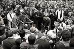 Pogrzeb Bogdana Wosika, zastrzelonego podczas demonstracji w Nowej Hucie. 20 październik 1982 rok. Cmentarz w Grembalowie.
