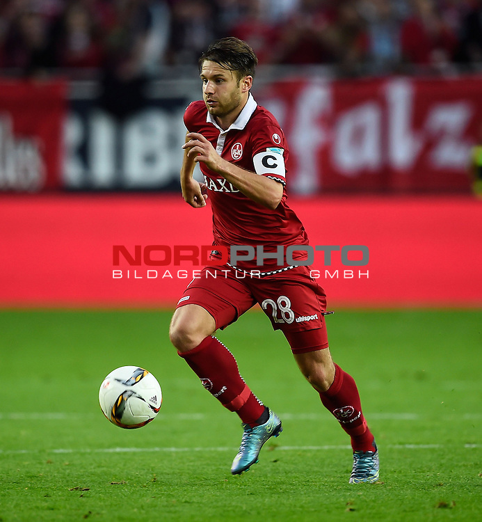 2. Liga  2015/2016, 10. Spieltag Hinrunde, 1. FC Kaiserslautern vs. Fortuna D&uuml;sseldorf<br /> Daniel Halfar (Kaiserslautern)<br /> <br /> <br /> Foto &copy; nordphoto /  Bratic