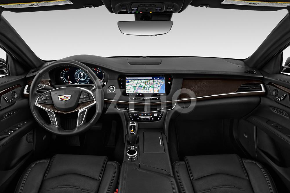 Stock photo of straight dashboard view of 2019 Cadillac CT6 Premium-Luxury 4 Door Sedan Dashboard