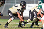 Palos Verdes, CA 10/25/13 - Anthony Labarbera (Peninsula #87) in action during the Mira Costa vs Peninsula varsity football game at Palos Verdes Peninsula High School.