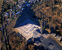 aerial photograph of Teotihuacan, near Mexico City, Mexico