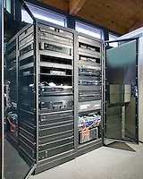 Professionally Installed Equipment Cabinet With Protected Racks