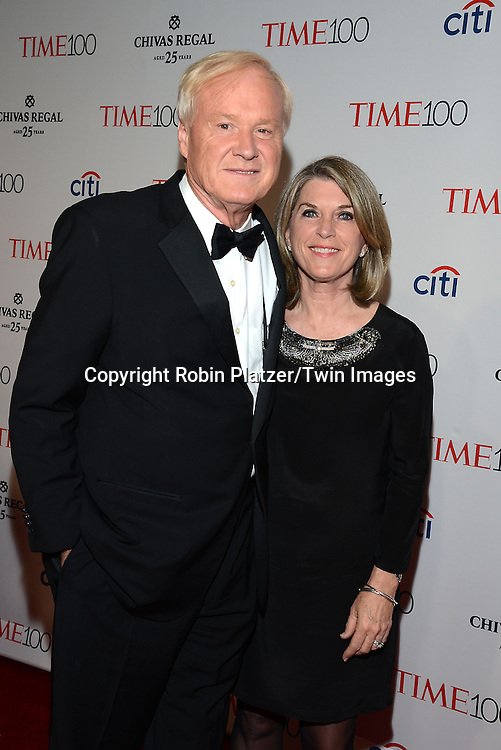 Chris Matthews and wife attend the TIME 100 Issue celebrating the 100 Most Influential People in the World on April 21, 2015 <br /> at Frederick P Rose Hall at Lincoln Center in New York City, New York, USA.<br /> <br /> photo by Robin Platzer/Twin Images<br />  <br /> phone number 212-935-0770