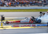 Aug 21, 2016; Brainerd, MN, USA; NHRA top fuel driver Shawn Langdon during the Lucas Oil Nationals at Brainerd International Raceway. Mandatory Credit: Mark J. Rebilas-USA TODAY Sports