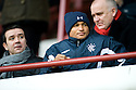 DANIEL COUSIN WRAPS UP WARM AS HE TAKES HIS SEAT IN THE STAND TO WATCH RANGERS PLAY DUNFERMLINE AT EAST END PARK.