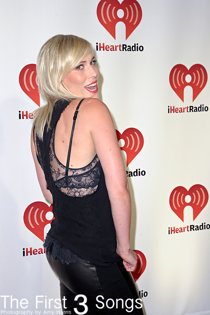 LAS VEGAS - SEPTEMBER 24: Natasha Bedingfield appears on the red carpet at the 2011 iHeartRadio Music Festival on September 24, 2011 at the MGM Grand Garden Arena in Las Vegas, Nevada.