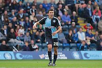 Luke O'Nien of Wycombe Wanderers disputes a decision during the Sky Bet League 2 match between Wycombe Wanderers and Hartlepool United at Adams Park, High Wycombe, England on 5 September 2015. Photo by Andy Rowland.