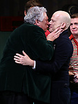 "Harvey Fierstein and Richie Jackson during the Broadway Opening Night Curtain Call for ""Torch Song"" at the Hayes Theater on November 1, 2018 in New York City."