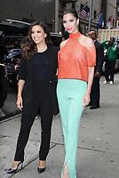 Eva Longoria and Roselyn Sanchez at Good Morning America