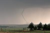 Rope Tornado in Grainfield, KS, May 22, 2008