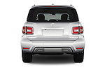 Straight rear view of 2017 Nissan Armada Platinum 5 Door SUV Rear View  stock images