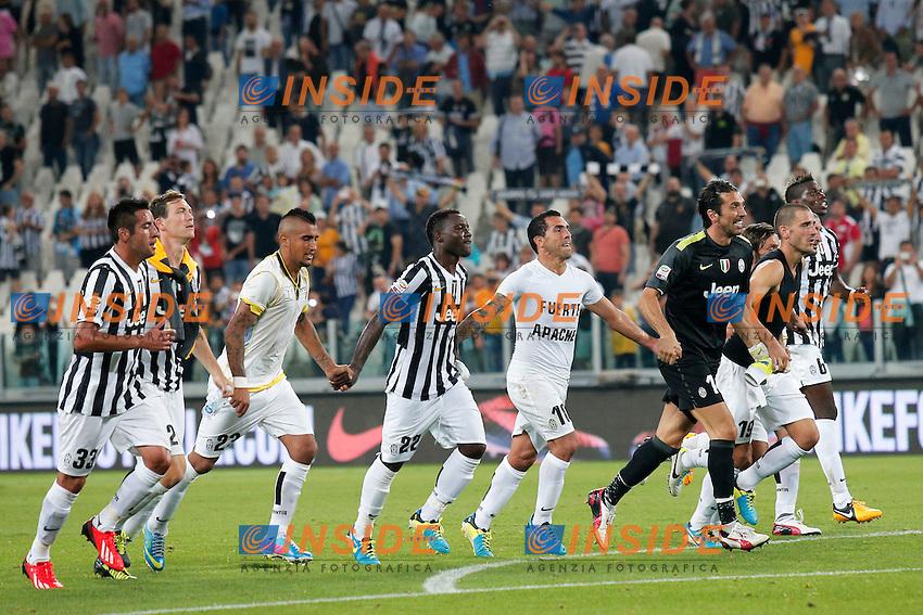 Esultanza finale Juventus,<br /> Torino 31-08-2013<br /> Juventus Stadium <br /> Football Calcio 2013/2014 Serie A <br /> Juventus - Lazio <br /> Foto Marco Bertorello Insidefoto