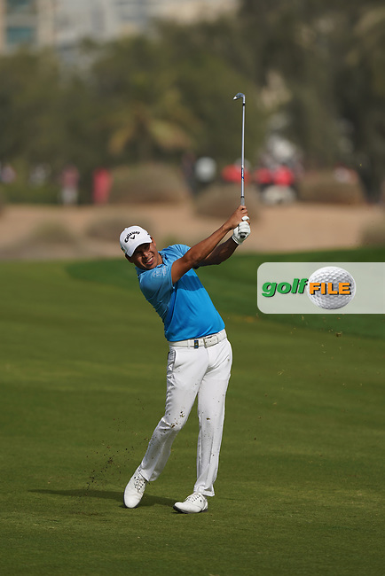 Andres Romero (ARG) in action during the second round of the Omega Dubai Desert Classic, Emirates Golf Club, Dubai, UAE. 25/01/2019<br /> Picture: Golffile | Phil Inglis<br /> <br /> <br /> All photo usage must carry mandatory copyright credit (&copy; Golffile | Phil Inglis)