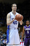 26 November 2014: Duke's Marshall Plumlee. The Duke University Blue Devils hosted the Furman University Paladins at Cameron Indoor Stadium in Durham, North Carolina in a 2014-16 NCAA Men's Basketball Division I game. Duke won the game 93-54.
