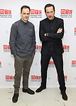 Jonny Lee Miller and Bertie Carvel attends the 'INK' cast photo call and rehearsal at Manhattan Theatre Club Rehearsal Studios on March 5, 2019 in New York City.