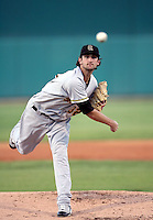 Nick Adenhart / Salt Lake Bees in a game against the Tucson Sidewinders in Tucson, AZ - 09/01/2008 ..Photo by:  Bill Mitchell/Four Seam Images