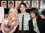Megan Hilty, Justin Long, Raven-Symone.attending the Announcements for the 2012 Drama League Nominations held at Sardi's on 4/24/2012 in New York City. © Walter McBride / Retna Ltd.