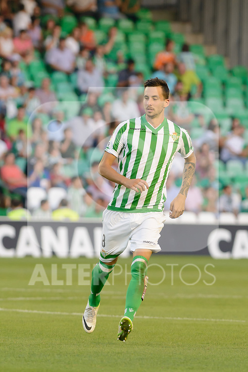 match between Real Betis and Betis player Renella during the Recreativo de Huelva day 10 of the spanish Adelante League 2014-2015 014-2015 played at the Benito Villamarin stadium of Seville. (PHOTO: CARLOS BOUZA / BOUZA PRESS / ALTER PHOTOS)