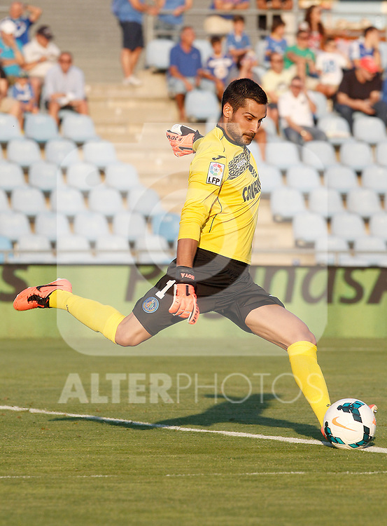 Getafe's Miguel Angel Moya during La Liga match.August 23,2013. (ALTERPHOTOS/Acero)