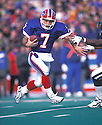 Buffalo BIlls Doug Flutie (7) during a game against the New York Jets at Ralph Wilson Stadium in Orchard Park, New York. Doug Flutie  played for 13 years with 4 teams and was a 1-time Pro Bowler.