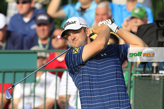 Bernd Wiesberger (AUT) tees off the 1st tee to start his match during Thursday's Round 1 of the 2016 U.S. Open Championship held at Oakmont Country Club, Oakmont, Pittsburgh, Pennsylvania, United States of America. 16th June 2016.<br /> Picture: Eoin Clarke | Golffile<br /> <br /> <br /> All photos usage must carry mandatory copyright credit (&copy; Golffile | Eoin Clarke)