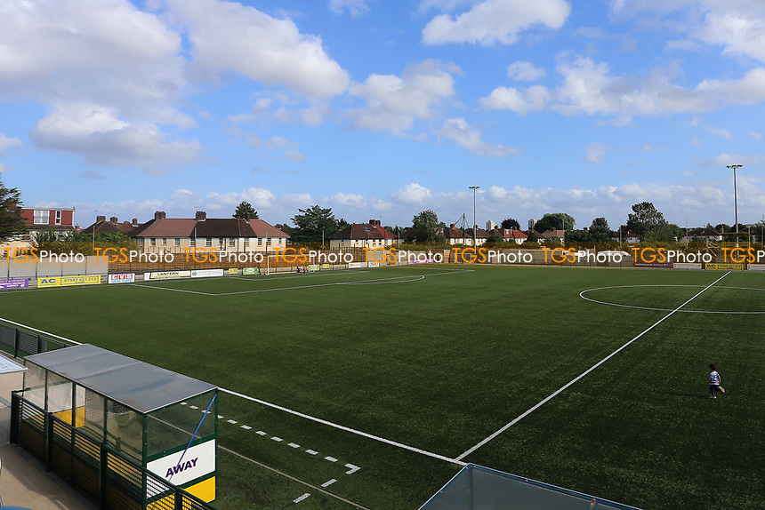 General view of the pitch during Haringey Borough vs Corinthian Casuals, BetVictor League Premier Division Football at Coles Park Stadium on 10th August 2019
