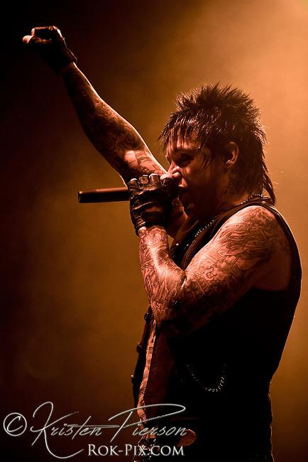 Papa Roach perform at Mohegan Sun, Uncasville, CT, November 12, 2008