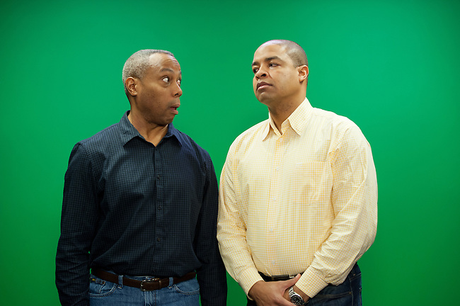 January  11, 2012 - Bristol, CT - Building 4: Both Sides of the Ball, Mike Hill and Jay Harris...Credit: Joe Faraoni/ESPN