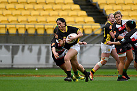 Fa'asua Mikisi of Wellington in action during the Farah Palmer Cup - Wellington Pride v Counties Heat at Westpac Stadium, Wellington, New Zealand on Sunday 15 September 2019. <br /> Photo by Masanori Udagawa <br /> www.photowellington.photoshelter.com