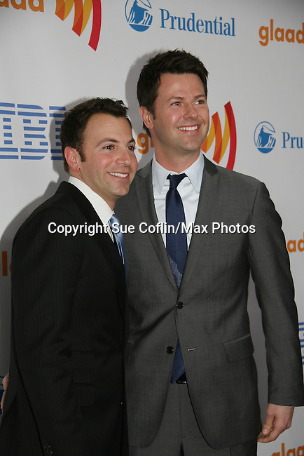 One Life To Live's Associate Director Anthony Wilkinson & Rodney Santiago at the 21st Annual GLAAD Media Awards on March 13, 2010 at the New York Marriott Marquis, New York City, NY. (Photo by Sue Coflin/Max Photos)