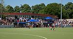 NIJMEGEN -  clubhuis de tweede play-off wedstrijd dames, Nijmegen-Huizen (1-4), voor promotie naar de hoofdklasse.. Huizen promoveert naar de hoofdklasse.  COPYRIGHT KOEN SUYK