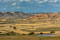 Europe, Espagne, Navarre, env d'Arguedas: Parc Naturel des Bardenas Reales, Réserve de biosphère, Blanca baja // Europe, Spain, Navarre, near Arguedas: Bardenas Reales Natural Park, Biosphere Reserve , Blanca baja