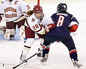 Meagan Mangene (BC - 24), Brittany Murphy (UConn - 8) - The Boston College Eagles defeated the visiting University of Connecticut Huskies 3-0 on Sunday, October 31, 2010, at Conte Forum in Chestnut Hill, Massachusetts.