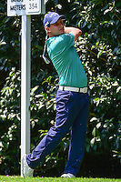 Emiliano Grillo (ARG) watches his tee shot on 2 during round 1 of the World Golf Championships, Mexico, Club De Golf Chapultepec, Mexico City, Mexico. 3/2/2017.<br /> Picture: Golffile | Ken Murray<br /> <br /> <br /> All photo usage must carry mandatory copyright credit (&copy; Golffile | Ken Murray)