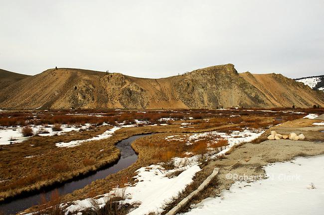 Winter scene on Valley Creek near Stanley, Idaho