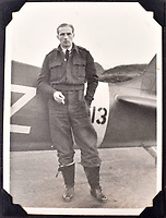 BNPS.co.uk (01202 558833)<br />Pic: C&T/BNPS<br /><br />Flt Lt Antoni Lipkowski in front of his Spitfire - he was initially thought to be to tall to fit into the famous Fighter but proved his doubters wrong.<br /> <br /> A fascinating photo album has sold for £1200 at auction - the previously unseen photographs chart the wartime career of Polish aristocrat Antoni Lipkowski -revealing how the emigree from Nazi Europe became a fighter pilot in the RAF.<br /> <br /> Flight Lieutenant Antoni Lipkowski escaped Poland when Germany invaded in 1939 and was desperate to join in the fight against the Nazis.<br /> <br /> Previously a cavalry officer, he retrained as a pilot and joined one of the Polish squadrons based in Britain which did such sterling work defending these skies in World War Two.<br /> <br /> Flt Lt Lipkowski, of 316 Polish Fighter Squadron, was very tall for a pilot and turned heads with his 'handsome' appearance.<br /> <br /> There are images of him in the cockpit of his Spitfire and posing nonchalantly in front of it with a cigarette in his hand.