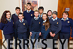 Listowel Community College pictured  pictured at the Donal Walsh Live Life Foundation Kerry Film awards 2015, held in the  Fels Point Hotel, Tralee on Wednesday were l-r: Katelyn Flynn, Michael Falvey, Killian Fealey, Diarmuid McDonnell, Shane Evans, John Fokseang, Edel Mulvihill, Emielia Girasole and Antonia Gleeson Tara Downey.