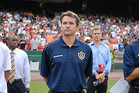 Los Angeles Galaxy head coach Frank Yallop during the presentation of the team. DC United defeated the Los Angeles Galaxy 1-0 at RFK Stadium in Washington DC, Thursday August 9, 2007.