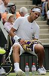 Mcc0032212 . Daily Telegraph..Sport..Rafael Nadal vs Juan Martin Del Potro..The seventh day of The Lawn Tennis Championships at Wimbledon..27 June 2011 Wimbledon