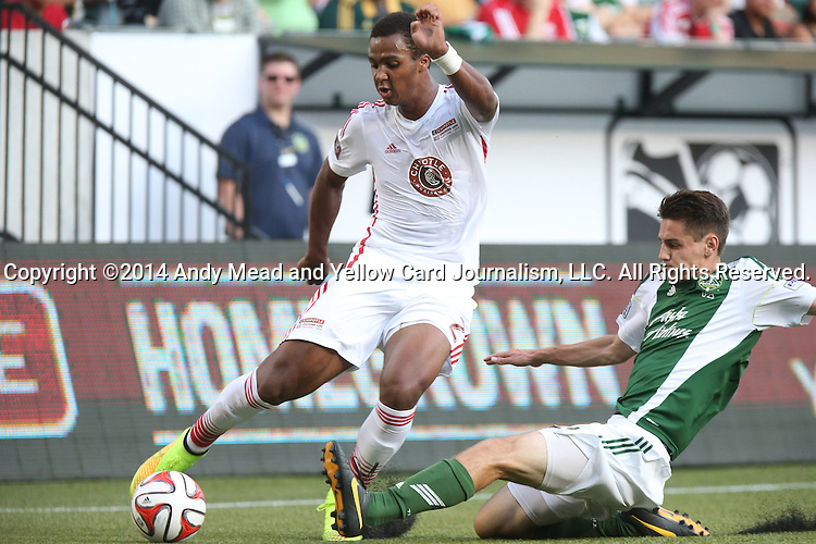 04 August 2014: MLS Homegrown's Erik Palmer-Brown (left). The Chipotle MLS Homegrown Game was played as part of the Major League All-Star Game week events. The MLS Homegrown players played the Portland Timbers U-23 team at Providence Park in Portland, Oregon.