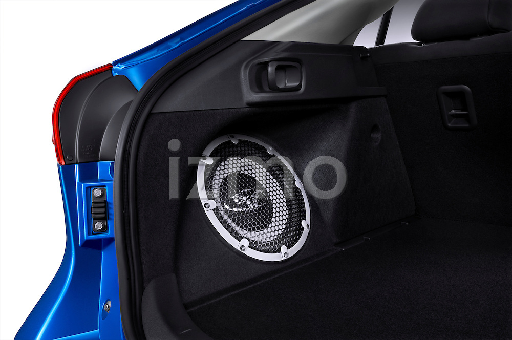Subwoofer Bass Speaker in Cargo Area of a 2010 Mitsubishi Lancer Sportback