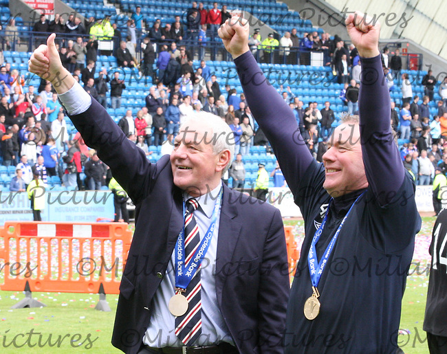 Walter Smith and Ally McCoist saluting the fans