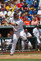 Mississippi State first baseman Wes Rea (35) at bat during Game 11 of the 2013 Men's College World Series against the Oregon State Beavers on June 21, 2013 at TD Ameritrade Park in Omaha, Nebraska. The Bulldogs defeated the Beavers 4-1, to reach the CWS Final and eliminating Oregon State from the tournament. (Andrew Woolley/Four Seam Images)