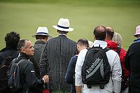 Friday: a day of white hats,  during Round Two of the 100th Open de France, played at Le Golf National, Guyancourt, Paris, France. 01/07/2016. Picture: David Lloyd | Golffile.<br /> <br /> All photos usage must carry mandatory copyright credit (&copy; Golffile | David Lloyd)