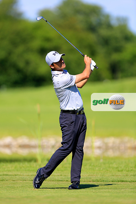 Felipe Aguilar (CHI) during the first round of the Lyoness Open powered by Organic+ played at Diamond Country Club, Atzenbrugg, Austria. 8-11 June 2017.<br /> 08/06/2017.<br /> Picture: Golffile | Phil Inglis<br /> <br /> <br /> All photo usage must carry mandatory copyright credit (&copy; Golffile | Phil Inglis)
