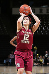 28 January 2016: Florida State's Brittany Brown. The Wake Forest University Demon Deacons hosted the Florida State University Seminoles at Lawrence Joel Veterans Memorial Coliseum in Winston-Salem, North Carolina in a 2015-16 NCAA Division I Women's Basketball game. Florida State won the game 96-55.