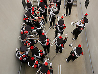 The Ohio State University Marching Band proceeds to their seats for Saturday's NCAA Division I football game between the Ohio State Buckeyes and the Navy Midshipmen at M&T Bank Stadium in Baltimore on August 30, 2014. (Dispatch Photo by Barbara J. Perenic)
